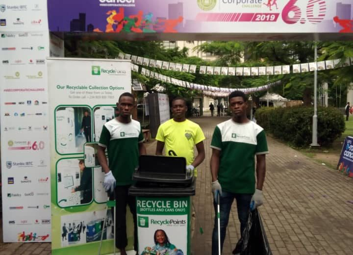 RecyclePoints joins Nigerian Stock Exchange Race Against Cancer 2019